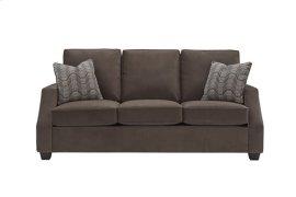 3 Cushion Sofa - Chocolate Twill Microfiber Finish