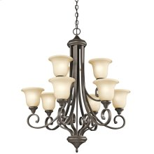Monroe Collection Monroe 9 Light, 2 Tier Chandelier - OZ