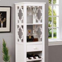Akaska Wine Cabinet W/ Foldable Table