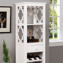 Akaska Wine Cabinet W/ Foldable Table