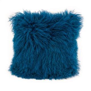 Lamb Fur Pillow Blue