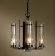 Chandelier: New Town four-light; includes canopy kit with 15' wire and 3' chain.