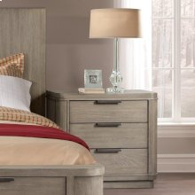 Precision - Three Drawer Nightstand - Gray Wash Finish