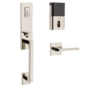 Polished Nickel with Lifetime Finish Evolved Minneapolis 3/4 Escutcheon Handleset
