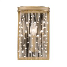 Marilyn PRL Wall Sconce in Peruvian Gold with Pearl Strands