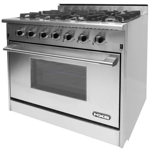 """NXR 36"""" Professional Range with Six Burners, Convection Oven, Natural Gas (DRGB3602) Special Offer available for a limited time!-CLOSEOUT"""