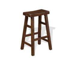 "30""H Santa Fe Saddle Seat Stool w/ Wood Seat"