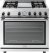 """Additional Range NEXT 36"""" Panorama Stainless steel 4 gas, griddle and gas oven"""