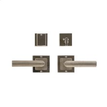 """Square Flute Entry Set - 3"""" x 3"""" Silicon Bronze Brushed with Basic"""