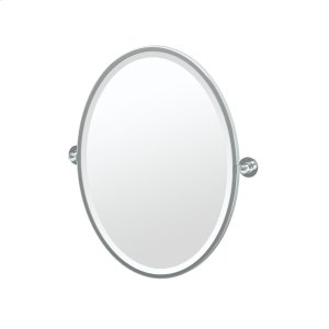 Terrace Framed Oval Mirror in Chrome Product Image