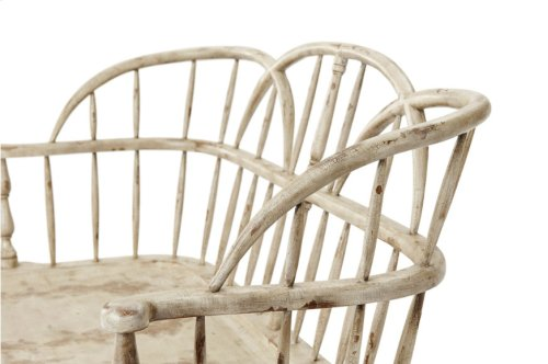 White Hoop Back Settee - Maryland White