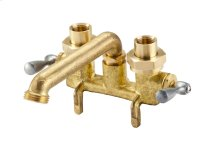 Rough Brass Gerber® Classics Two Handle Clamp-on Combination Laundry Faucet