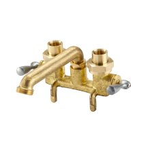 Rough Brass Gerber Classics Two Handle Clamp On Laundry Faucet W/ Ips/sweat Connections -threaded Spout 2.2GPM