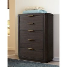 Precision - Five Drawer Chest - Umber Finish