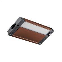 """4U 8"""" 2700K LED Cabinet Light Textured Bronze"""