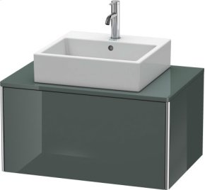 Vanity Unit For Console Wall-mounted, Dolomiti Gray High Gloss Lacquer