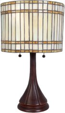 Table Lamp, Antique Bronze/tiffany Shade, E27 Type A 60wx2 Product Image