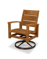 Rosewood Swivel Rocker Dining Chair Product Image