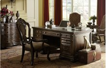 La Bella Vita Office Credenza with Hutch