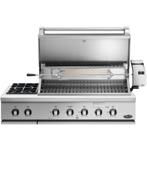 "48"" Traditional Grill With Rotisserie and Side Burners"