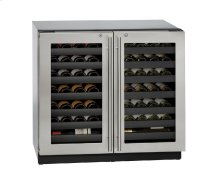 """Modular 3000 Series 36"""" Wine Captain® Model With Stainless Frame (lock) Finish and Double Doors Door Swing (115 Volts / 60 Hz)"""