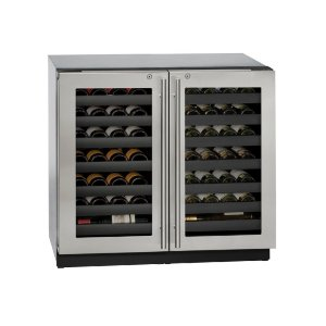 """U-Line Modular 3000 Series 36"""" Wine Captain(r) Model With Stainless Frame (Lock) Finish And Double Doors Door Swing (115 Volts / 60 Hz)"""