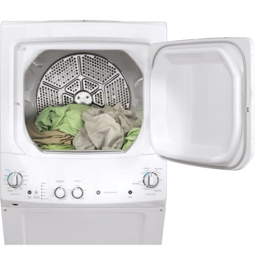 GE Unitized Spacemaker® 3.8 DOE cu. ft. Capacity Washer with Stainless Steel Basket and 5.9 cu. ft. Capacity Electric Dryer