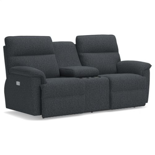Jay La-Z-Time PowerRecline with Power Headrest Full Reclining Loveseat W/ Middle Console
