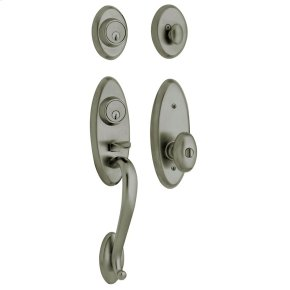 Antique Nickel Landon Two-Point Lock Handleset