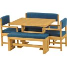 Dining Table, benches and chairs Product Image