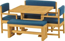 Dining Table, benches and chairs
