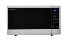 1.8 cu. ft. 1100W Sharp Stainless Steel Countertop Microwave with Black Mirror Door (SMC1843CM)