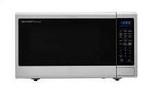 1.8 cu. ft. 1100W Sharp Stainless Steel Countertop Microwave with Black Mirror Door (SMC1843CM)
