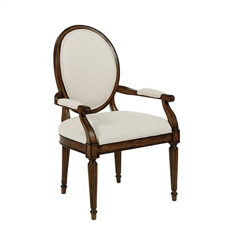 Artisans Shoppe Oval Back Arm Chair Tobacco