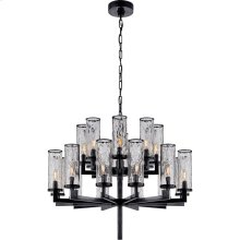 Visual Comfort KW5201BZ-CRG Kelly Wearstler Liaison 20 Light 34 inch Bronze Chandelier Ceiling Light, Kelly Wearstler, Double-Tier, Crackle Glass