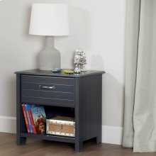 1-Drawer Nightstand - End Table with Storage - Blueberry