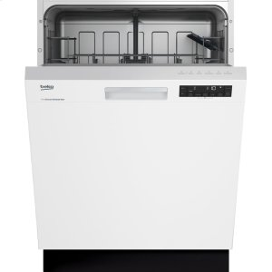 BekoWhite Front Control, Pocket Handle Dishwasher, 5 Programs, 48 dBA