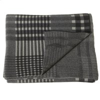 Grey Plaid Knit Throw Product Image