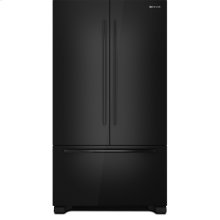"Jenn-Air® 72"" Counter Depth French Door Refrigerator, Black Floating Glass w/Handle"