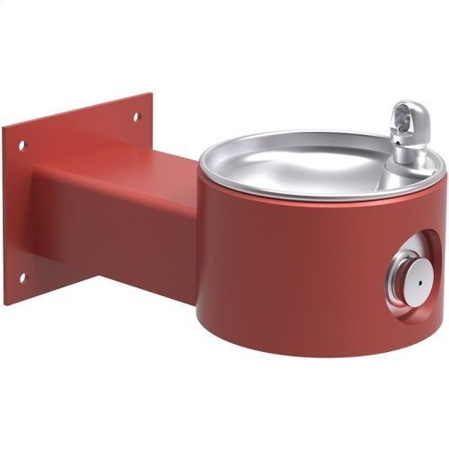 Elkay Outdoor Fountain Wall Mount, Non-Filtered Non-Refrigerated, Red