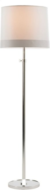 Visual Comfort BBL1023SS-S2 Barbara Barry Simple 63 inch 150 watt Soft Silver Decorative Floor Lamp Portable Light in Silk