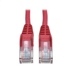 Cat5e 350MHz Snagless Molded Patch Cable (RJ45 M/M) - Red, 5-ft.