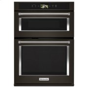 "KitchenAid® Smart Oven+ 30"" Combination Oven with Powered Attachments and PrintShield™ Finish - Black Stainless Product Image"