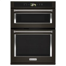 """KitchenAid® Smart Oven+ 30"""" Combination Oven with Powered Attachments and PrintShield Finish - Black Stainless"""