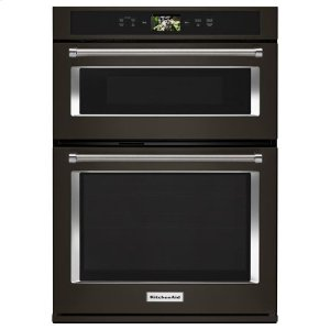 "KitchenaidKitchenAid® Smart Oven+ 30"" Combination Oven with Powered Attachments and PrintShield™ Finish - Black Stainless"