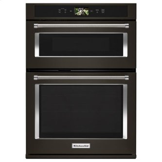 """KitchenAid(R) Smart Oven+ 30"""" Combination Oven with Powered Attachments and PrintShield(TM) Finish - Black Stainless"""