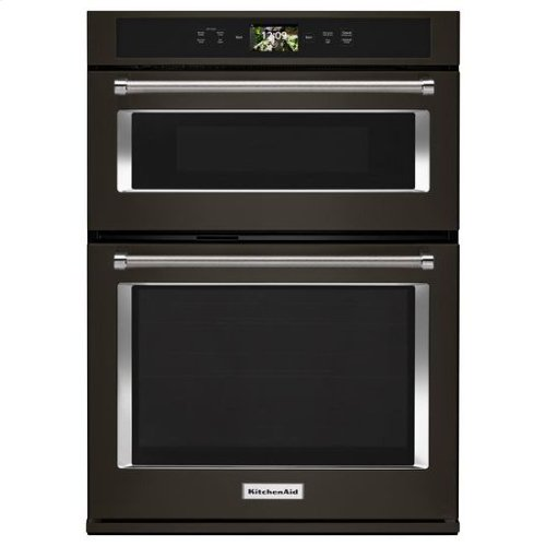 "KitchenAid® Smart Oven+ 30"" Combination Oven with Powered Attachments and PrintShield Finish - Black Stainless"