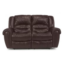 Crosstown Leather Reclining Loveseat