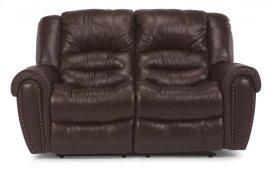 Crosstown Leather Reclining Loveseat