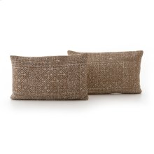 Rust Diamond Lumbar Pillow, Set of 2